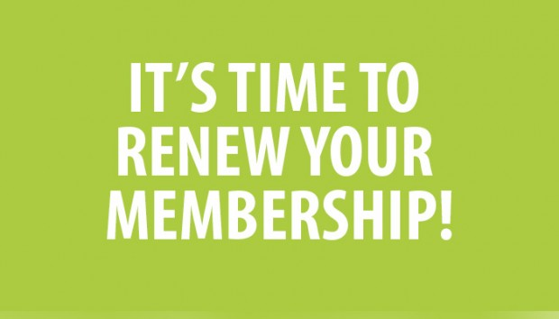 Membership Renewals Now Due after 31st March